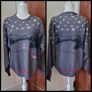 PENDLETON vtg embroidered ski snowflake sweater